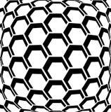 Geometrisk sexhörningsmodell texturerad bakgrund Arkivfoto