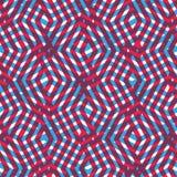 Geometrisk smutsig fodrad sömlös modell, färgrikt labyrintvektorslut Royaltyfria Bilder