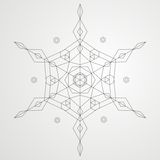 geometrisk snowflake vektor illustrationer