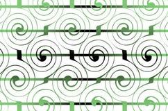 Geometrisk spiral prydnad Arkivbilder