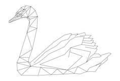Geometrisk stil för svan stock illustrationer