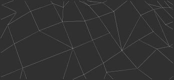 Geometrisk svartvit låg polygonstilbakgrund för kontorsbroschyrdesign Royaltyfri Illustrationer