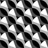 Geometrisk svartvit modell/bakgrund Sömlöst repea vektor illustrationer