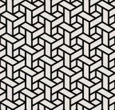 geometrisk svartvit modell för kuber för tryck 3d för grafisk design Royaltyfri Foto