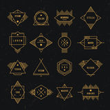 Geometrisk tappningetikett Royaltyfri Fotografi
