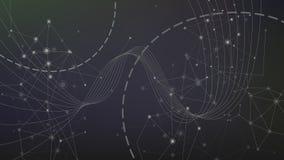 Geometrisk teknologibakgrund för abstrakt våg Royaltyfri Bild