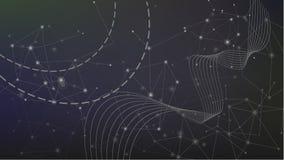 Geometrisk teknologibakgrund för abstrakt våg Royaltyfria Bilder