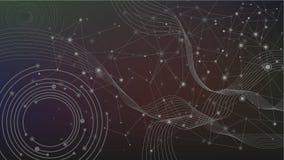 Geometrisk teknologibakgrund för abstrakt våg Fotografering för Bildbyråer
