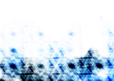 Geometrisk teknologisk blå digital triangelabstrakt begreppbackgroun Royaltyfria Foton