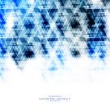 Geometrisk teknologisk blå vektor för triangelabstrakt begreppbakgrund Royaltyfria Bilder