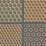 Geometrisk textilmodelluppsättning. Fotografering för Bildbyråer