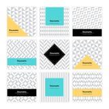 Geometrisk texturuppsättning 001 Royaltyfria Bilder