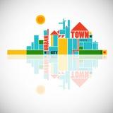 geometrisk town för abstrakt sammansättning vektor illustrationer