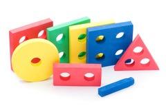 geometrisk toywhite för barn Arkivfoton