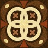 Geometrisk träinläggmall, ljus och wood modeller för mörker Träkonstgarnering Fanér texturerade geometriska beståndsdelar, royaltyfri illustrationer
