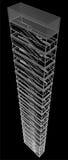 Geometrisk trappuppgång av den höga byggnadsvektorn Royaltyfri Fotografi