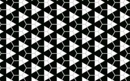Geometrisk triangel och sexhörnig svartvit modellabstra stock illustrationer