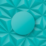 Geometrisk vektorbakgrund för grönaktiga blått Arkivfoto