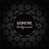 Geometrisk vektorbakgrund (svart-, grå färg- och vitbakgrund) Royaltyfri Fotografi