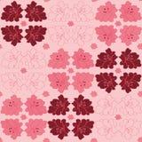 Geometrisk vektormodell med liljablommor p stock illustrationer