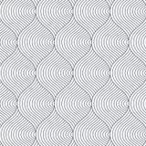 Geometrisk vektormodell som upprepar abstrakt spiral, den krabb, för kurva det tunna linjen eller fingeravtrycket stock illustrationer