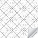 Geometrisk vektormodell som upprepar den korta linjen med stiftet eller abstrakt begreppslagmannen i rombform och pappers- flip p stock illustrationer
