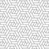 Geometrisk vektormodell som upprepar den linj?ra sexh?rningsabstrakt begreppblomman vektor illustrationer