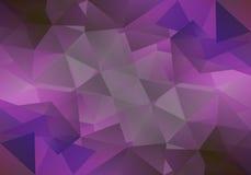 Geometrisk violett bakgrund med triangulära polygoner Abstrakt design också vektor för coreldrawillustration Arkivfoto