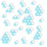 Geometrisk volymprydnad Sömlös modell för bakgrund, tapet, textilutskrift, inpackning, etc. stock illustrationer