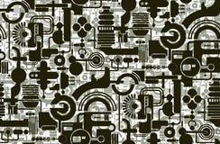 geometrisk wallpaper Royaltyfri Bild