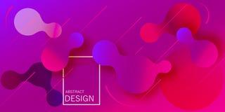 geometrisk wallpaper Den fluid lutningen formar sammansättning vektor illustrationer
