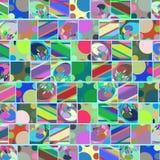 Geometriska abstrakta rektanglar och linjer bakgrund, bild Royaltyfria Bilder