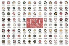 Geometriska abstrakta symboler för märkesidentitet Royaltyfri Fotografi