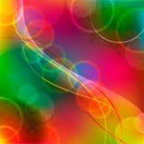 Geometriska bakgrundscirklar för ljus färgrik vektor stock illustrationer