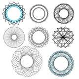 Geometriska dekorativa designbeståndsdelar Royaltyfri Foto