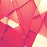 Geometriska färgabstrakt begrepppolygoner Arkivbild