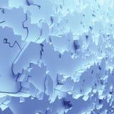 Geometriska färgabstrakt begrepppolygoner, som sprickaväggen interior 12 Royaltyfri Foto