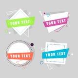 Geometriska färgbeståndsdelar, klistermärkear för baner Plan design Royaltyfria Foton