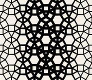 Geometriska för svart för vektor snör åt sömlösa vita & modellen Royaltyfria Bilder