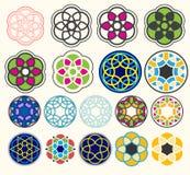 Geometriska formdesignuppsättningar Arkivfoto