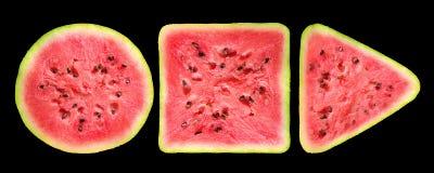 Geometriska former av vattenmelon Arkivfoton