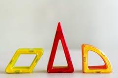 Geometriska former för barn` s Triangel romb Fotografering för Bildbyråer
