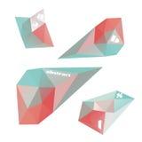 Geometriska former för design Arkivbilder