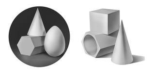 Geometriska former för murbruk Arkivfoton