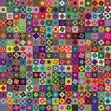 geometriska fyrkanter för abstrakt bakgrund Royaltyfri Fotografi