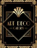 Geometriska Gatsby Art Deco Print Frame Design stock illustrationer