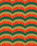 Geometriska halvcirklar gör grön röd guling med mörka befruktningar vektor illustrationer