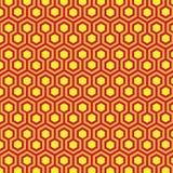 geometriska honungskakamodeller Arkivbild