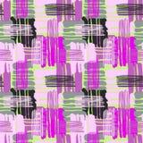 Geometriska krökta linjer sömlöst handhantverk uttrycksfullt I för grafitti Royaltyfri Bild