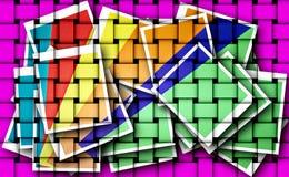 Geometriska linjer, hörn, cirklar, färgade och svartvita teckningar, smattrandet ns, bilder för illustrationer och bakgrund arkivbilder